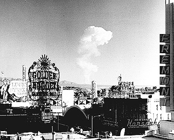 february 1951, atomic bomb testing, atomic bomb tests, nevada test site, las vegas, nevada, tourist attractions, 1950s,