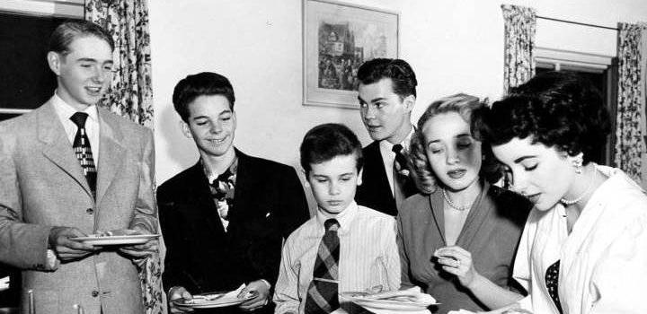dean stockwell, child actor, jane powell, claude jarman jr, elizabeth taylor high school graduation party, russ tamblyn, mgm, litle red schoolhouse, friends