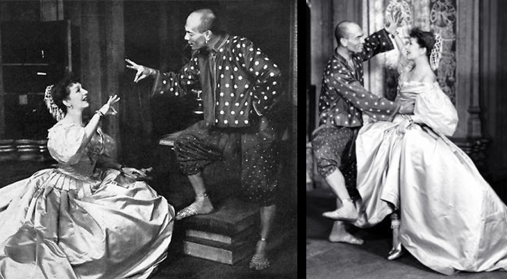 gertrude lawrence, british actress, english singer, yul brynner, russian, american, actor, 1951, broadway musicals, the king and i, london west end, film stars, rodgers and hammerstein plays,