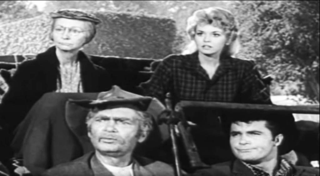 the beverly hillbillies cast 1963, baby boomers favorite television shows, american actresses, donna douglas, elly may clampett, irene ryan, granny daisy moses, american actors, max baer jr, jethro bodine, buddy ebsen, jed clampett, pa clampett, 1960s television series, 1960s tv sitcoms,
