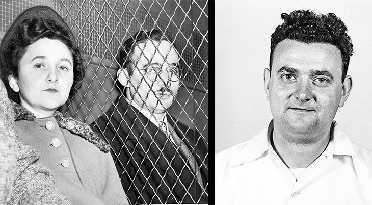ethel rosenberg, julius rosenberg, american spies, executed spies, communist party of america , 1951, david greenglass, 1950, soviet union, jewish americans, young communist league usa