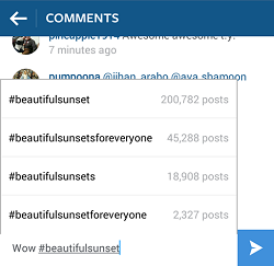 instagram using post hashtags, instagram how to