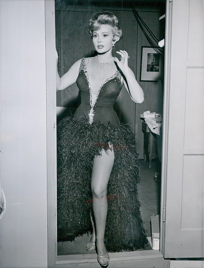 zsa zsa gabor 1958, hungarian american actress, 1950s television series, 1950s tv shows, guest star, december bride, movie star