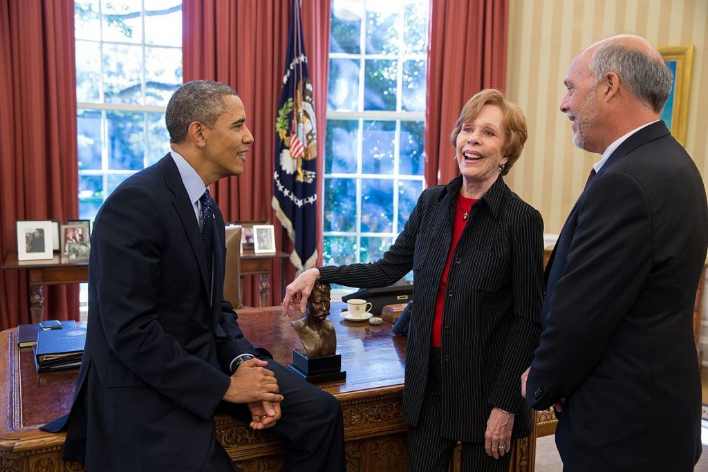 carol burnett, 2013, husband brian miller, mark twain prize for american humor, president barack obama, the white house, the oval office, american actress, comedian, septuagenarian, senior citizen