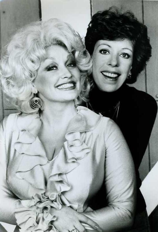 carol burnett 1980, dolly parton 1980, american actresses, singer, tv special, friends