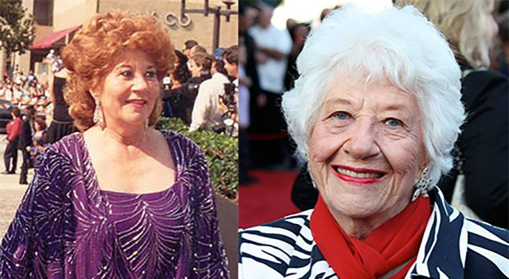 charlotte rae 1988, charlotte rae 2012, american actress, charlotte ray younger, charlotte ray older, 1980s television series, 1970s tv sitcoms, the facts of life mrs garrett