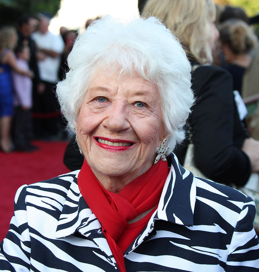 charlotte rae 2012, american actress, broadway, tv series, the facts of live, senior citizen, octogenarian