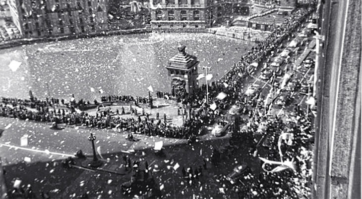 1951 april, general douglas macarthur, new york city ticker tape parade, korean war veteran