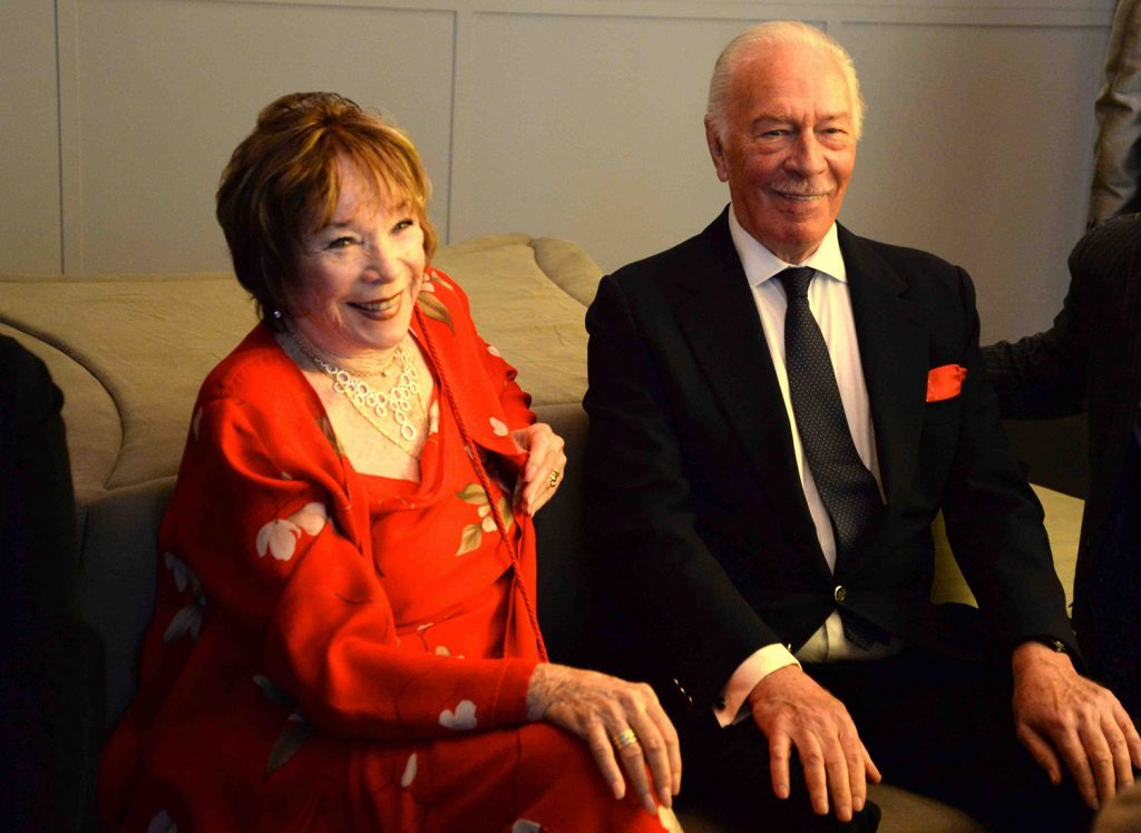 shirley maclaine 2014, christopher plummer, senior citizens, octogenarians, older couple, american actress, canadian actor, movies, elsa and fred