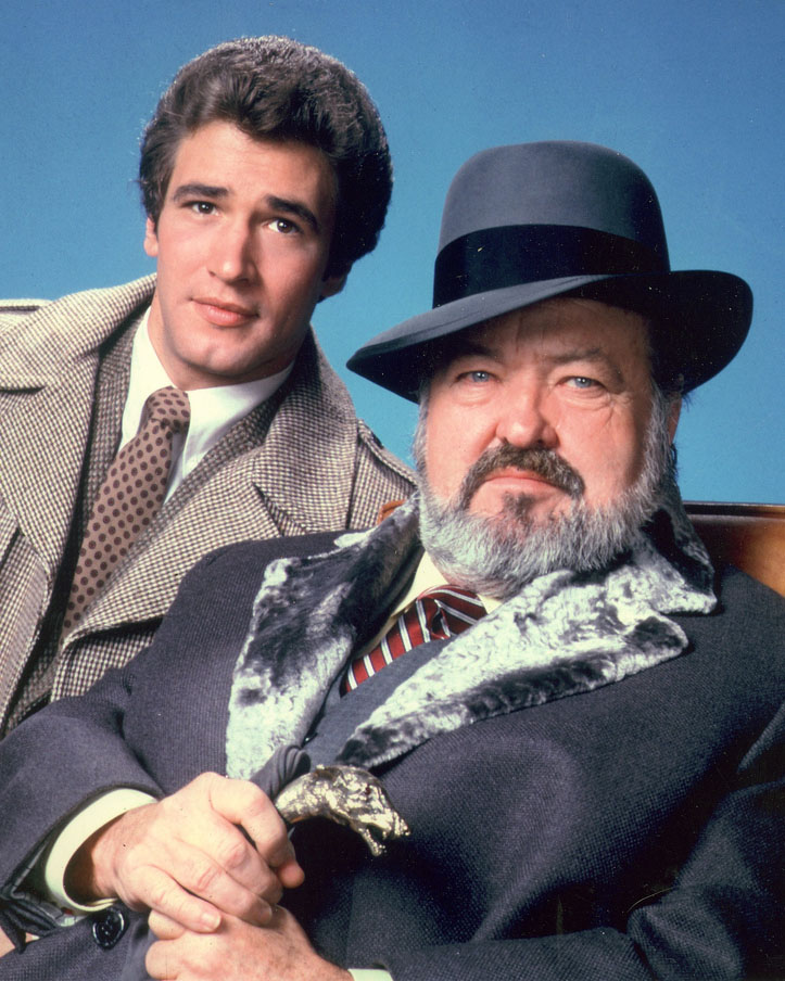 william conrad 1981, nero wolfe, american actor, 1980s tv shows, 1980s television series, tv detective shows, costars, lee horsley, allan miller, george wyner
