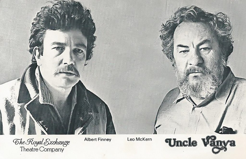 albert finney 1978, english actors, 1970s plays, england, uncle vanya, royal exchange theatre company, leo mckern