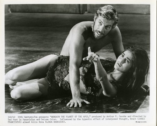 james franciscus 1969, american actor, linda harrison, 1960s movies, sci fi movies, beneath the planet of the apes