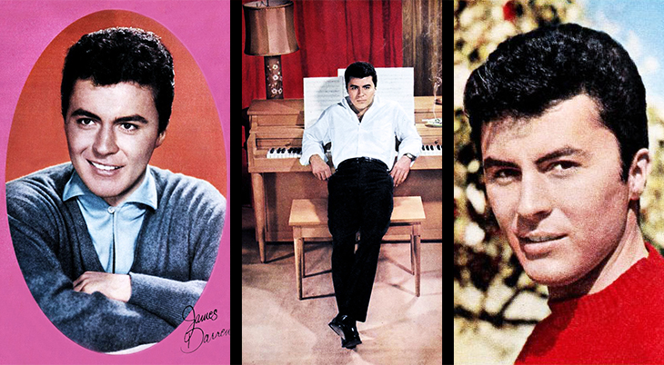 james darren, american singer, actor, 1958, 1959, 1950s, teen idol, movies, rumble on the docks, operation mad ball, the tijuana story, the brothers rico, gidget, gunmans walk, film star, hit songs, the next best thing to love,