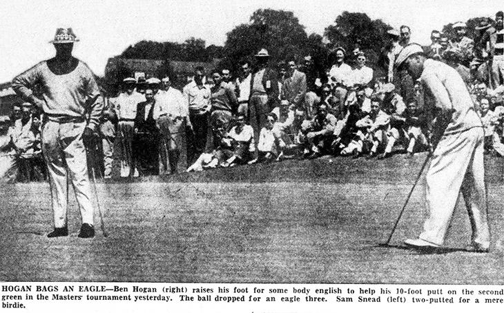 ben hogan, american golfer, professional golf player, golf pro, 1940s, 1950s, golf champion, the wee iceman, bantam ben, 1951, sam snead, masters tournament