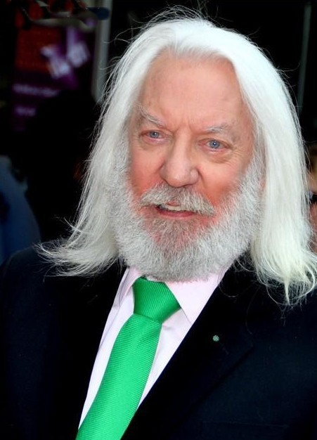 donald sutherland 2012, canadian actor, senior citizen
