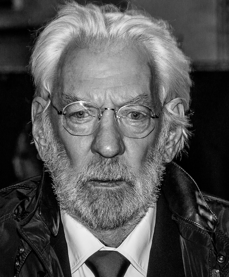 donald sutherland 2014, canadian actor, canadian citizen, senior citizen, octogenarian, hunger games movies, movie star