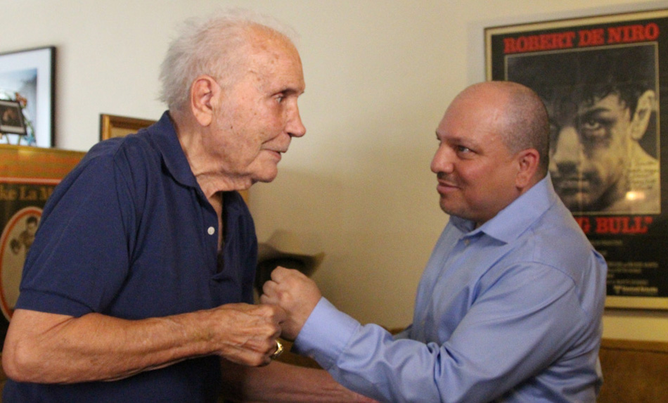 jake lamotta 2000, american boxer, retired, septuagenarian senior citizen, older, former wba boxing champion, heavyweight boxing champion, lorenzo tartamella
