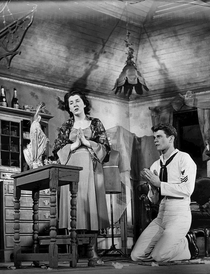 don murray 1951, maureen stapleton, the rose tattoo, broadway, younger