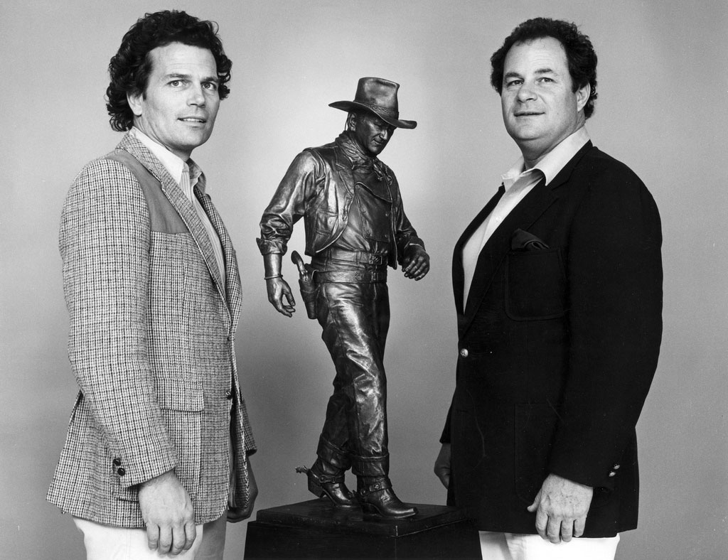 patrick wayne, american actor, michael wayne, american producer, john wayne sons, 1981