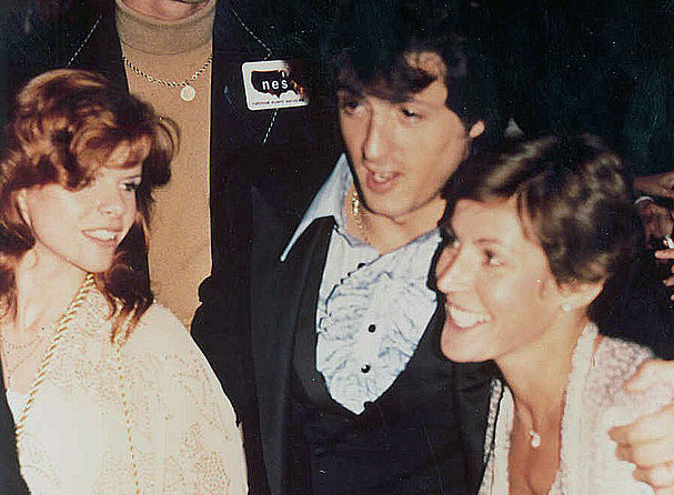 sylvester stallone 1978, first wife sasha czack, helen reddy, fist premier, american actor