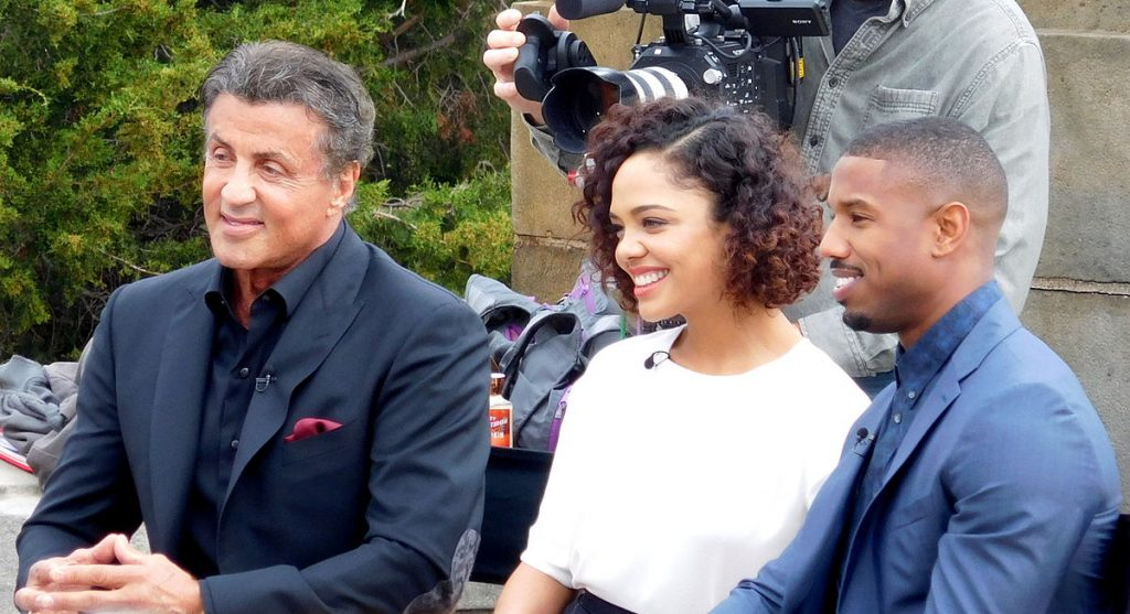 sylvester stallone 2015, american actors, 2015 movies, academy award nominations, creed, tessa thompson, michael b jordan, rocky sequel