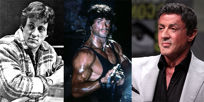 sylvester stallone, 1988, 1993, 2012, younger, older, septuagenarian, senior citizen, american actor, rocky movies, rambo movies, action hero, 50+, action movie hero, action movies, baby boomer fans,the expendables movies, rocky balboa, physical fitness, older years, creed, academy awards