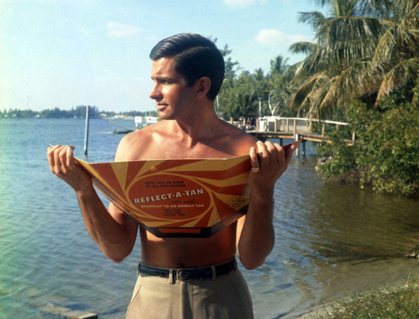 george hamilton 1966, palm beach, reflect a tan, american actor