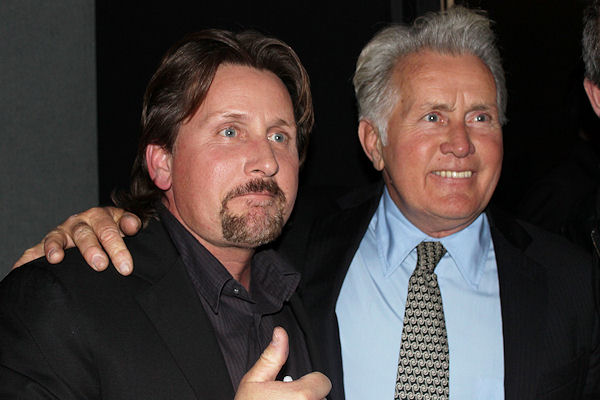 martin sheen 2011, son emilio estevez, father and son, american actors