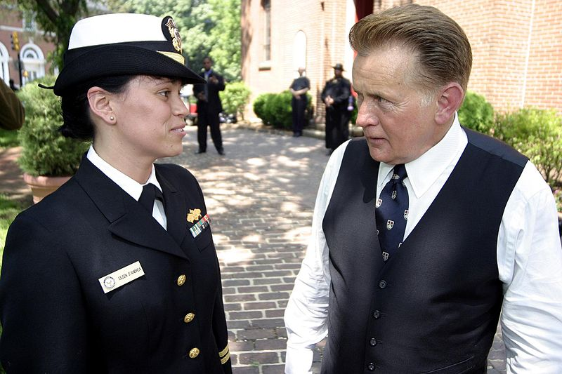 martin sheen 2004, the west wing, behind the scenes, lt eileen dandrea, us navy, president josiah bartlett, american actor, tv shows