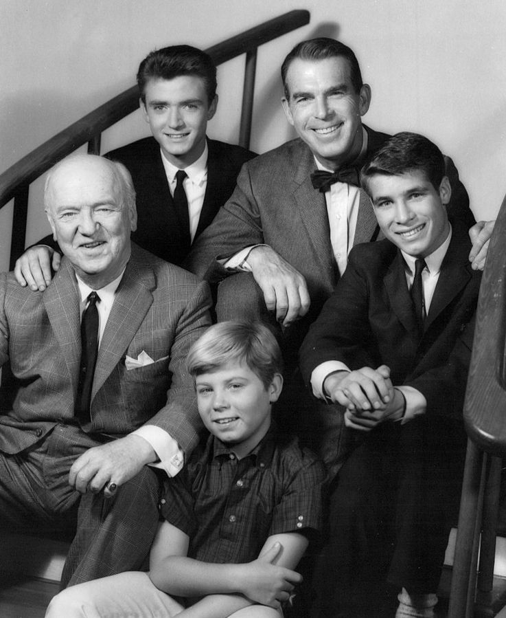 my three sons, cast, 1962, 1967, my three sons, fred macmurray, steven douglas, tim considine, mike douglas, don grady, robbie douglas, stanley livingston, chip douglas, william frawley, bub ocasey