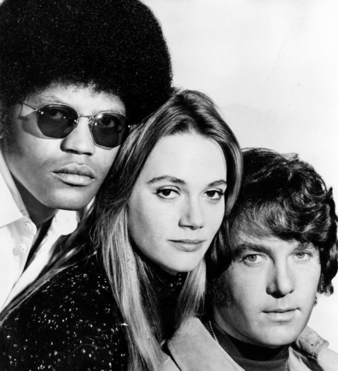 peggy lipton 1971, american actress, michael cole, clarence williams iii, 1970s television series, 1970s tv shows, the mod squad