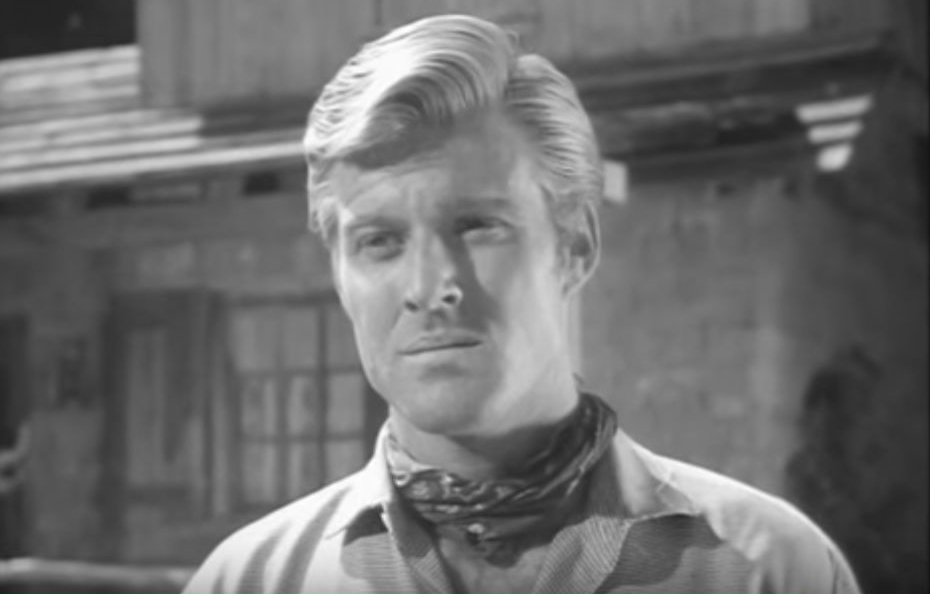 robert redford 1960, american actor, younger, 1960s television series, 1960s tv guest star, tate comanche scalps guest star