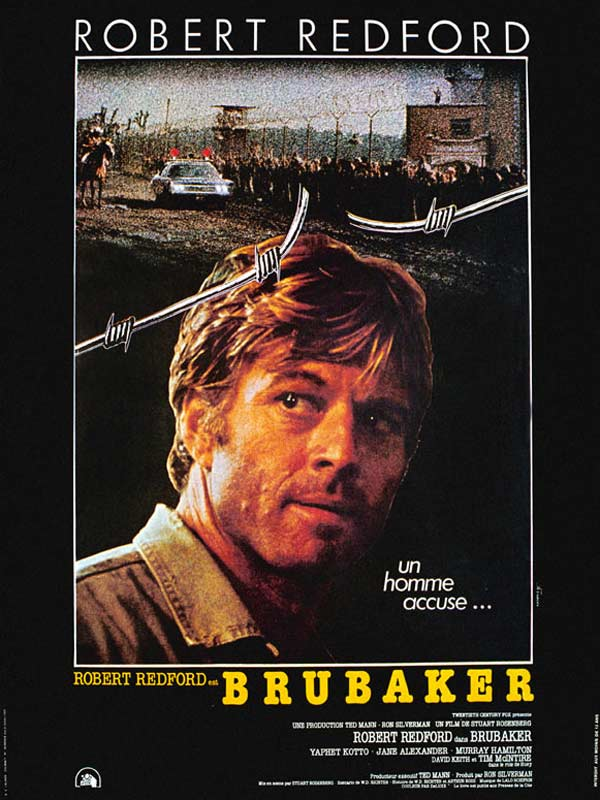 robert redford 1980, american actor, 1980s movies, brubaker