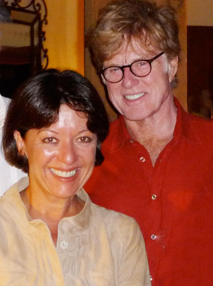 robert redford 2011, wife sibylle szaggars, american actor, senior citizen couple