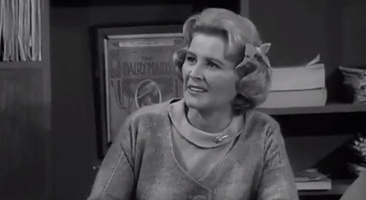 rose marie 1962, the dick van dyke show, american singer, dancer, actress, comedian, sally rogers character, never name a duck episode