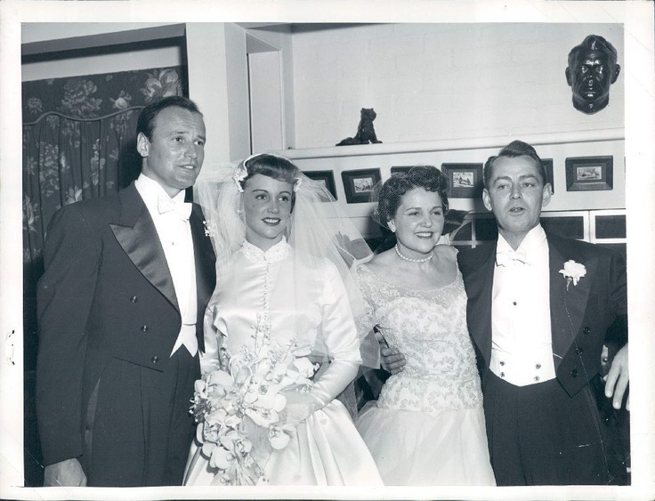 richard anderson, actor, 1955, wedding, carol lee ladd, alan ladd, carol ladd