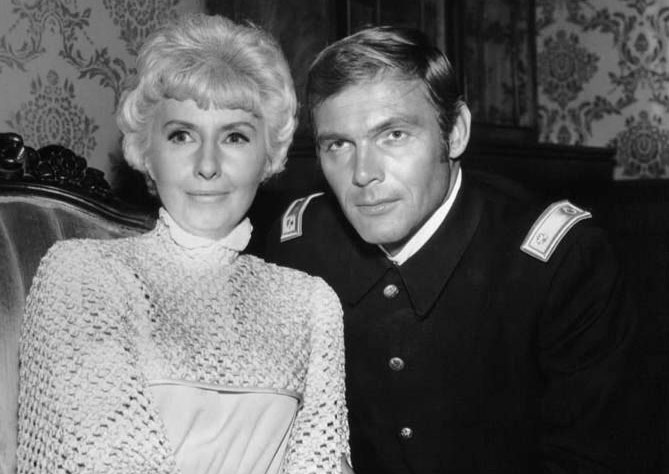 adam west 1968, barbara stanwyck, the big valley, guest star, 1960s westerns, 1960s television series, american actors