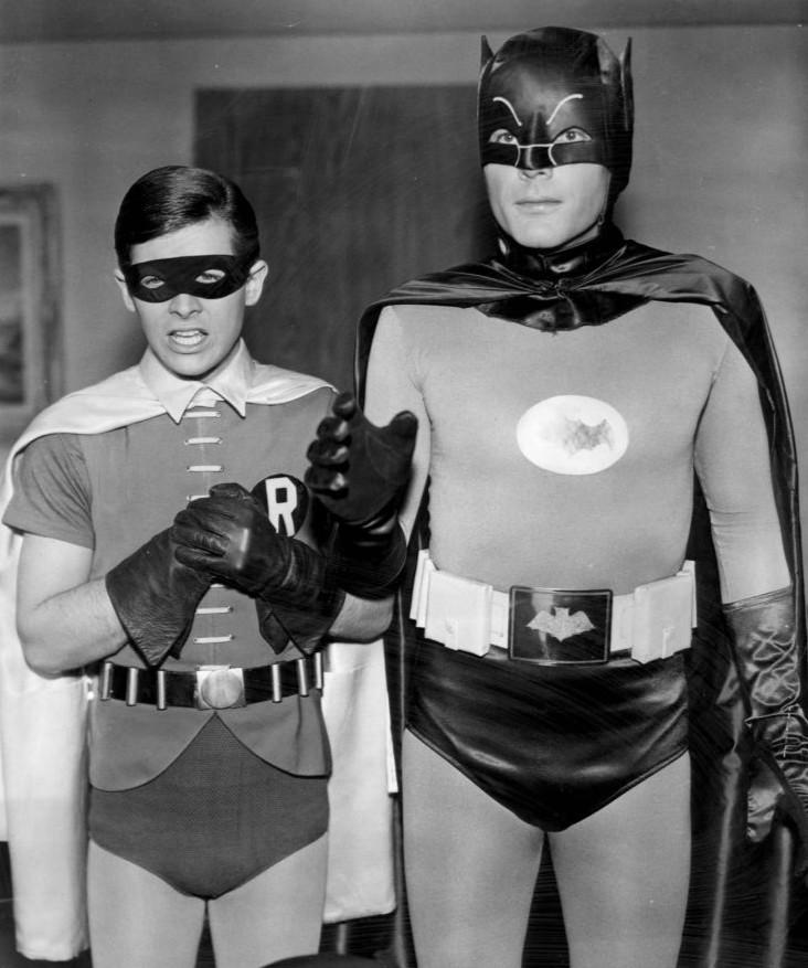adam west 1968, batman, bruce wayne, burt ward, robin, 1960s television series, 1960s tv shows, 1960s movies, american actors