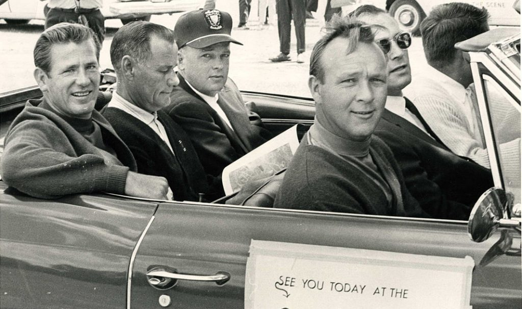 arnold palmer 1961, american golfer, professional golfer, pga tour, younger, doug sanders, bob fry, jack rule, john lujack