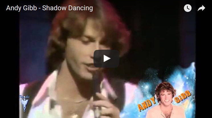 andy gibb, shadow dancing, music video, written by barry gibb