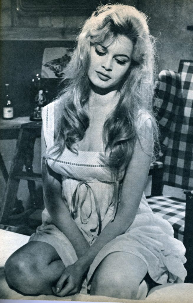 brigitte bardot 1958, french model, actress, 1950s movies