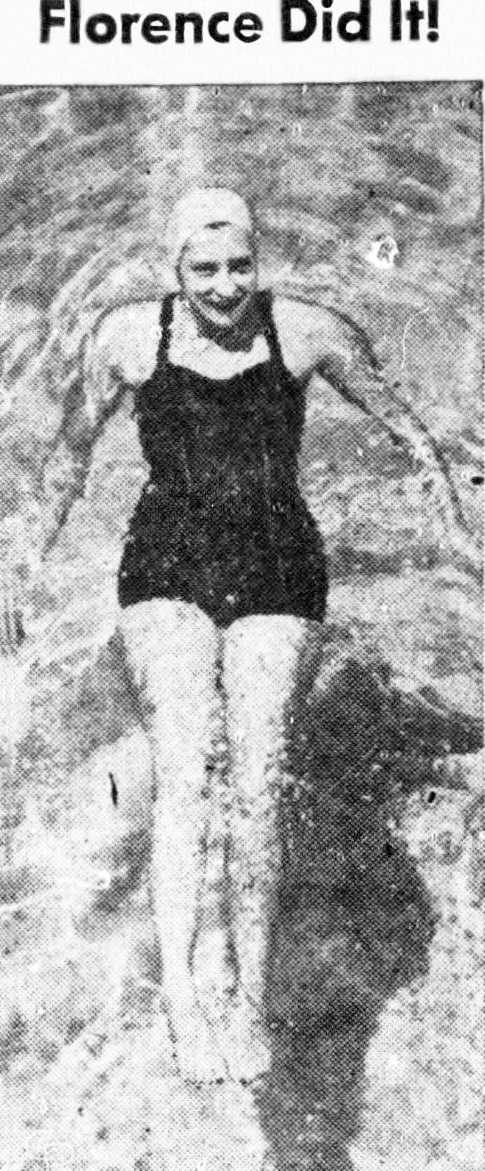 1951 september, florence chadwick, american swimmer, long distance simmers, swimming records, first woman, english channel swim, straits of gibraltar, bosporus, catalina swimwear,