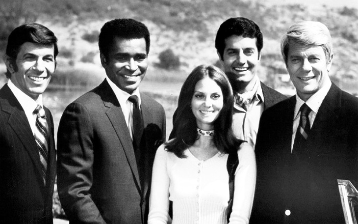 mission impossible 1970 cast, mission impossible season 5 cast, american actors, leonard nimoy, paris, greg morris, barney collier, lesley ann warren, dana lambert, peter lupus, willy armitage, peter graves, jim phelps