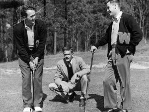 arnold palmer, friend, buddy worsham, golf buddies, pro golfers, amateur golfers, wake forest university, north carolina, 1950