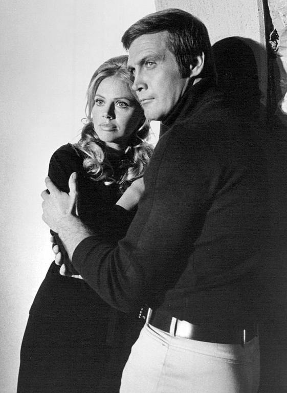 britt ekland 1973, swedish actress, swedish american, lee majors, american actor, 1970s tv movies, the six million dollar man wine women and war