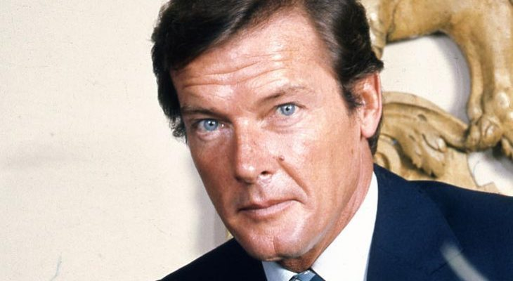 roger moore 1973, english actor, james bond