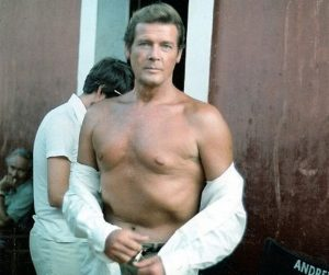 roger moore 1979, english actor, 1980s movies, the sea wolves, middle aged