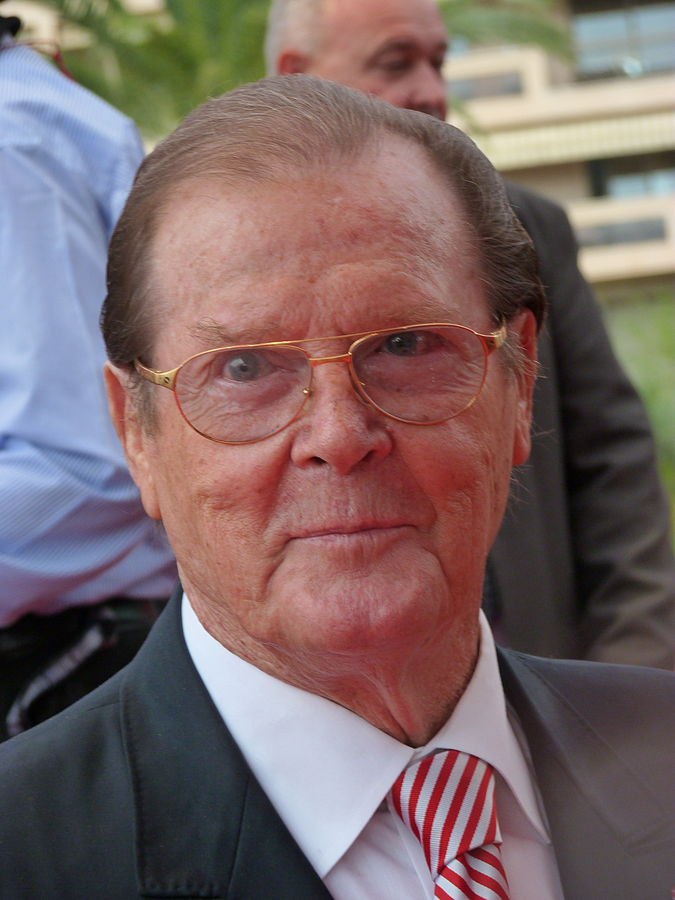roger moore 2012, english actor, senior citizen, older, monte carlo festival