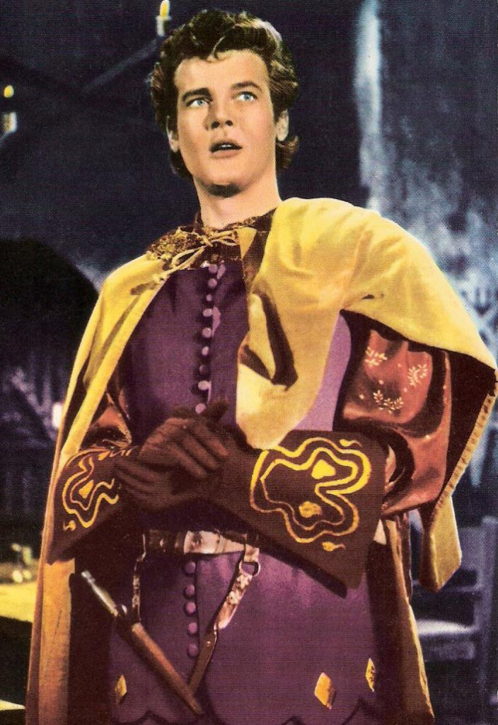 roger moore 1958, english actor, 1950s british television series, ivanhoe, sir wilfred of ivanhoe, british childrens tv show, younger