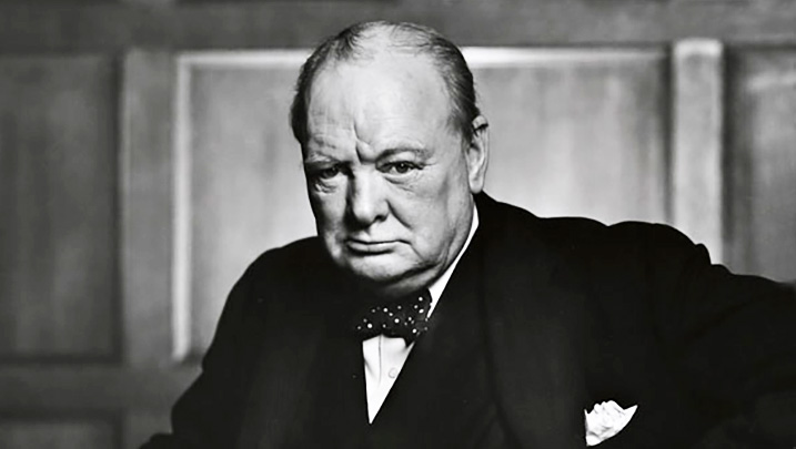 sir winston churchill, british prime minister, leader of the opposition, conservative party,